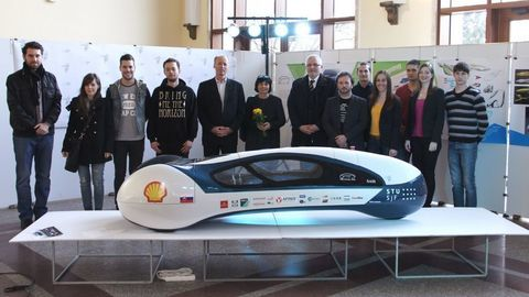Thumb vozidlo kategorie futuristic prototype pre shell eco marathon  fakulta architektury 2015   foto maria simkova