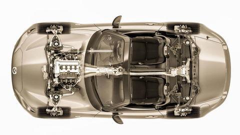 Thumb 2016 mazda mx 5 miata chassis top down view