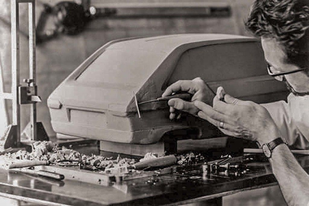 Content lucien louis working on the r16 scale clay  circa 1963
