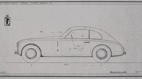 Thumb maserati a6 pininfarina studio blueprint 1103maserati a6 pininfarina studio blueprint