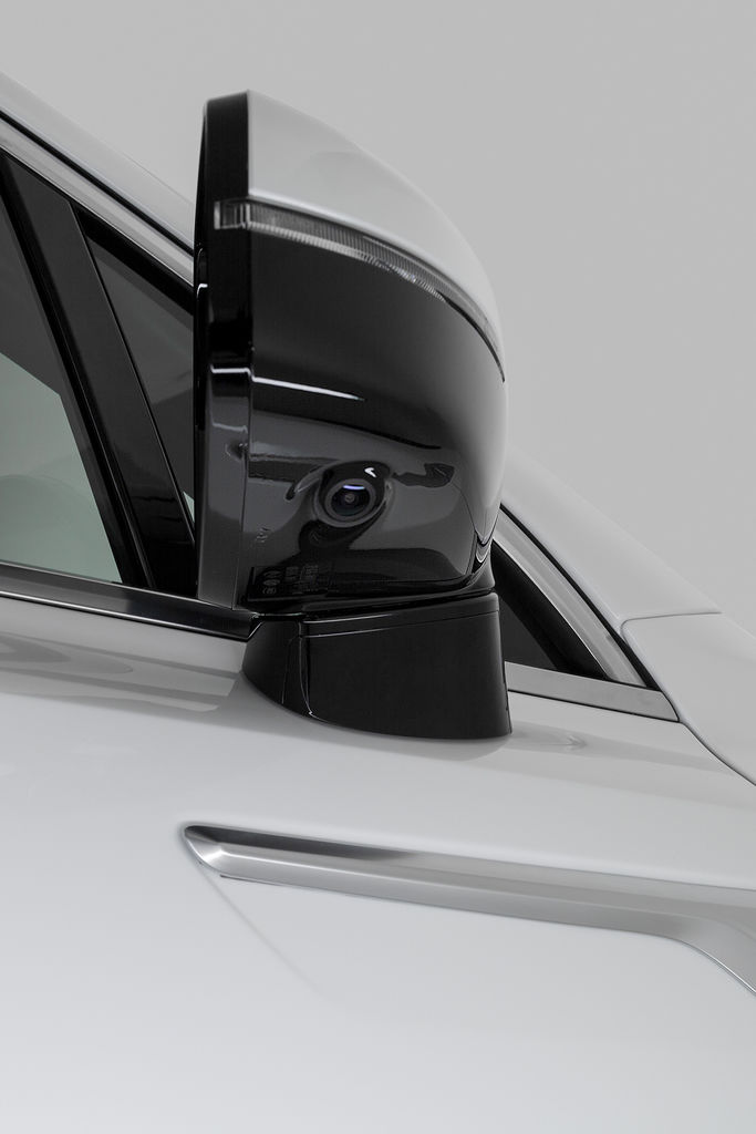 Content side mirror with camera