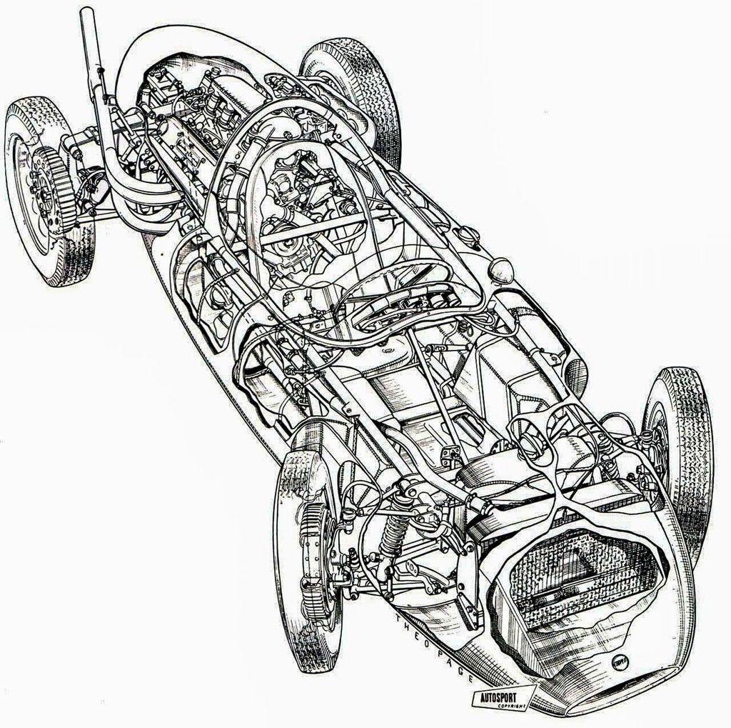 Content cutaway drawing 1958 cooper t45 02