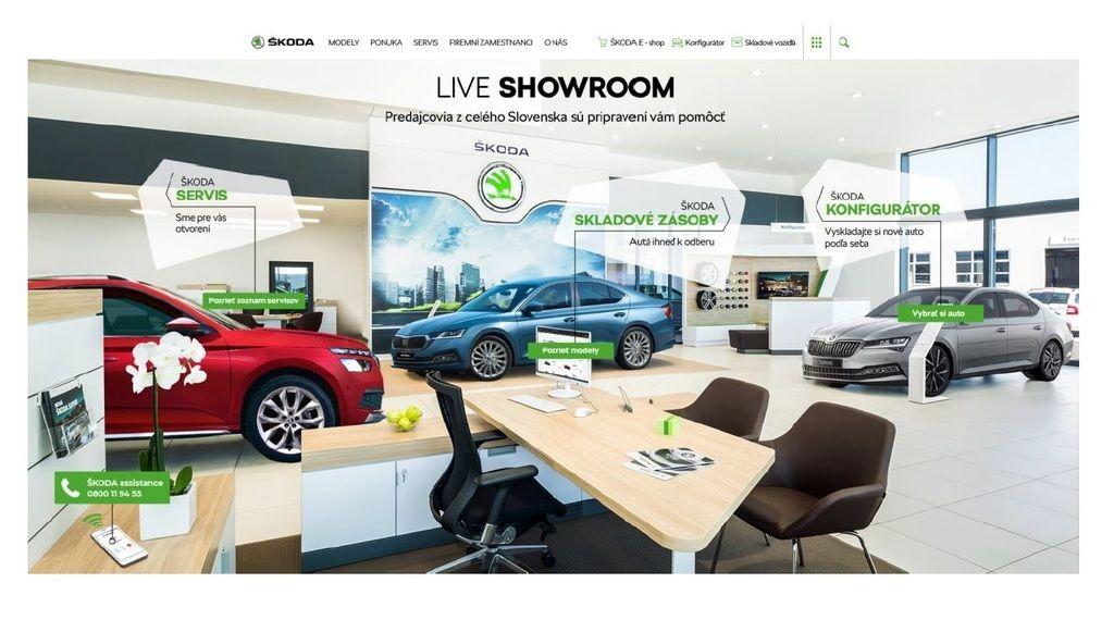 Content online showroom
