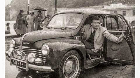 Thumb 1 jean redele au volant de sa renault 4 cv monte carlo 1951