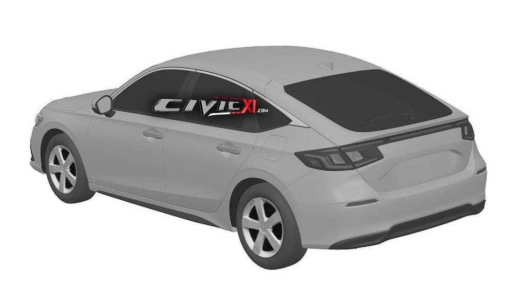 Content honda civic 11th generation design trademark rear three quarters