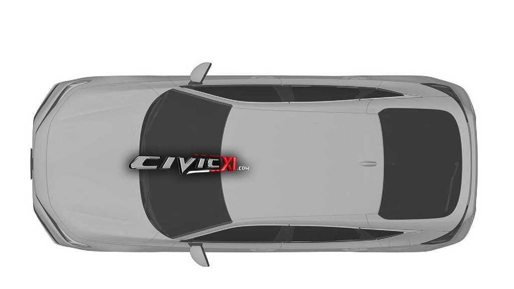 Content honda civic 11th generation design trademark roof