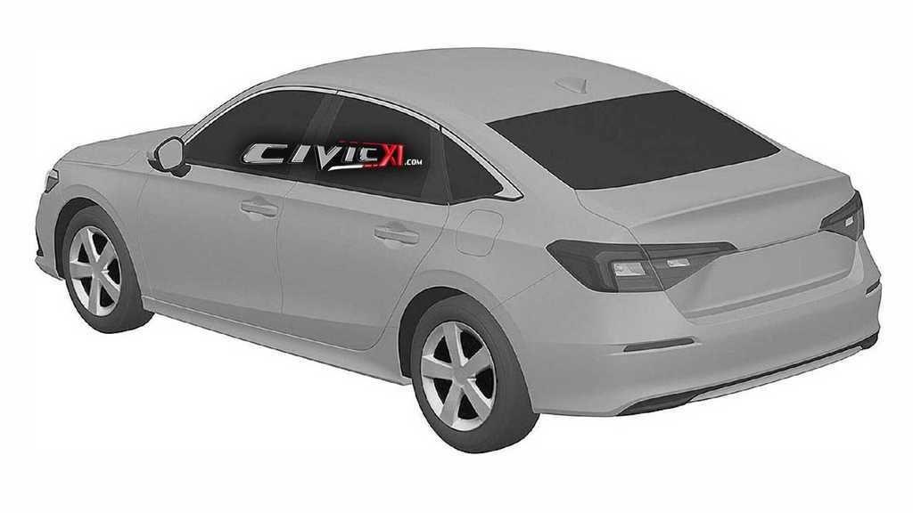 Content 2022 honda civic sedan rear view at patent office