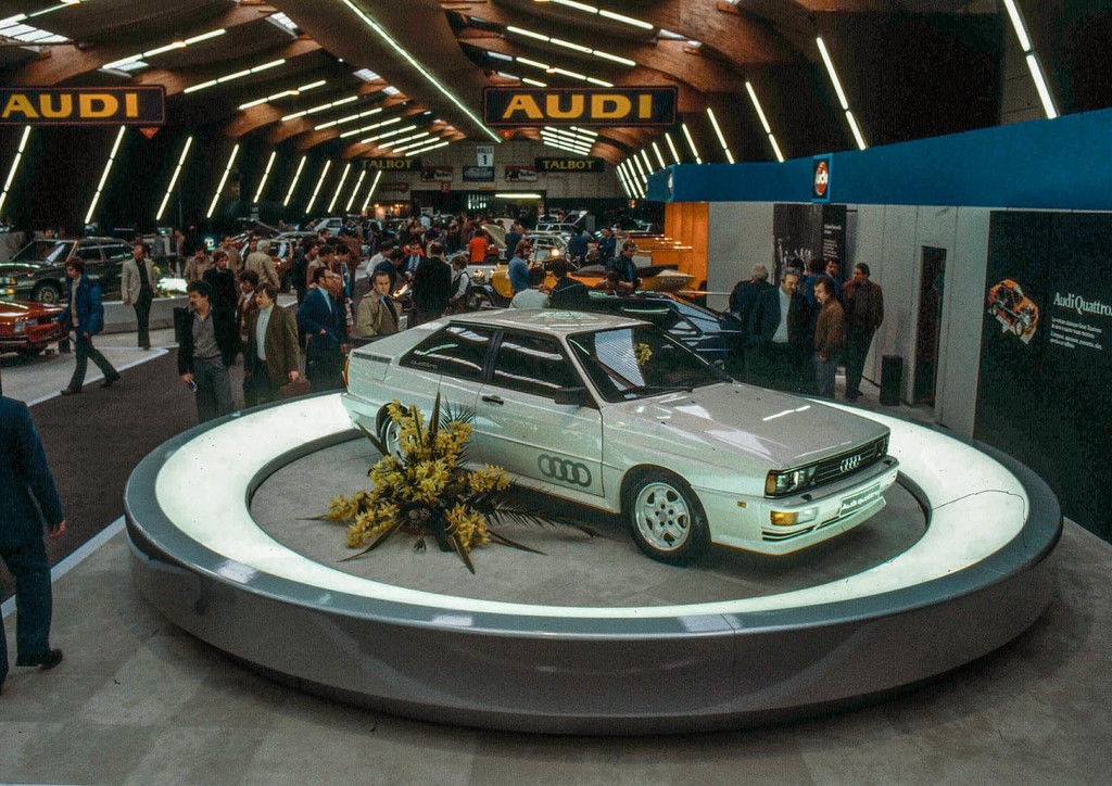 Content quattro   debut at the geneva motor show in march 1980