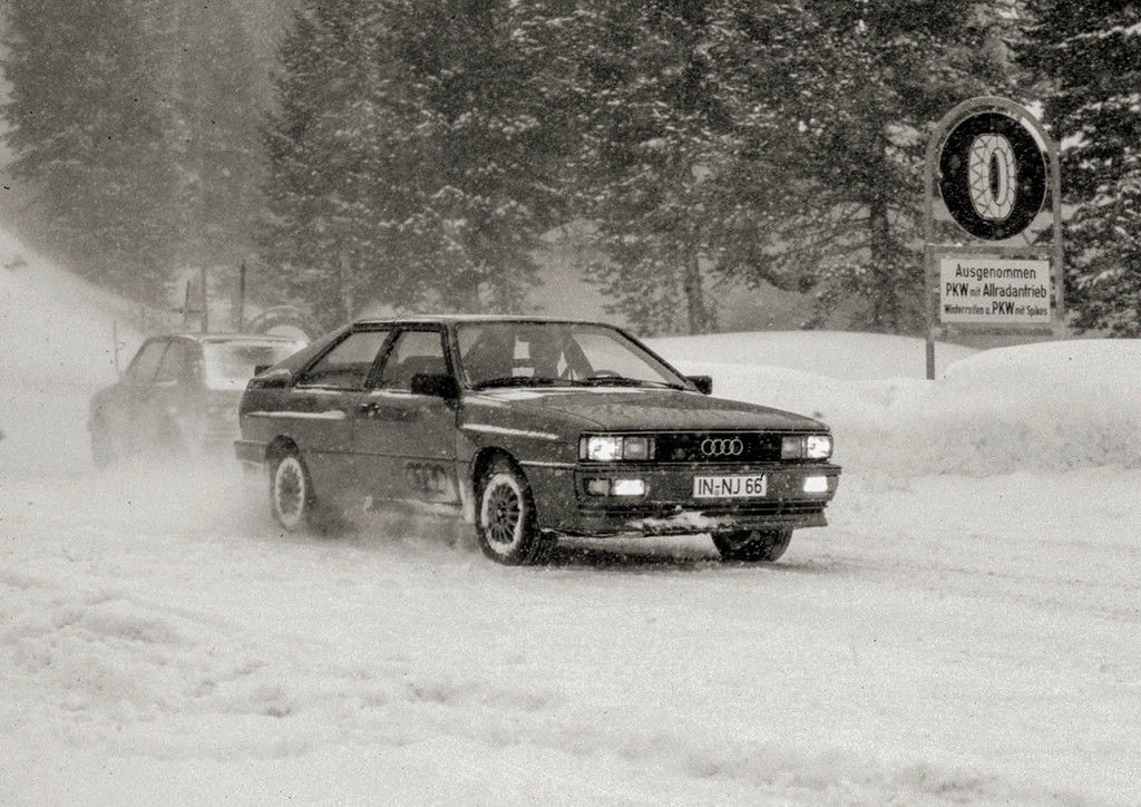 Content quattro   prototype test on the turracher h he in 1979
