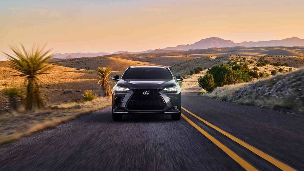 Content 2022 lexus nx 350 f sport front on road