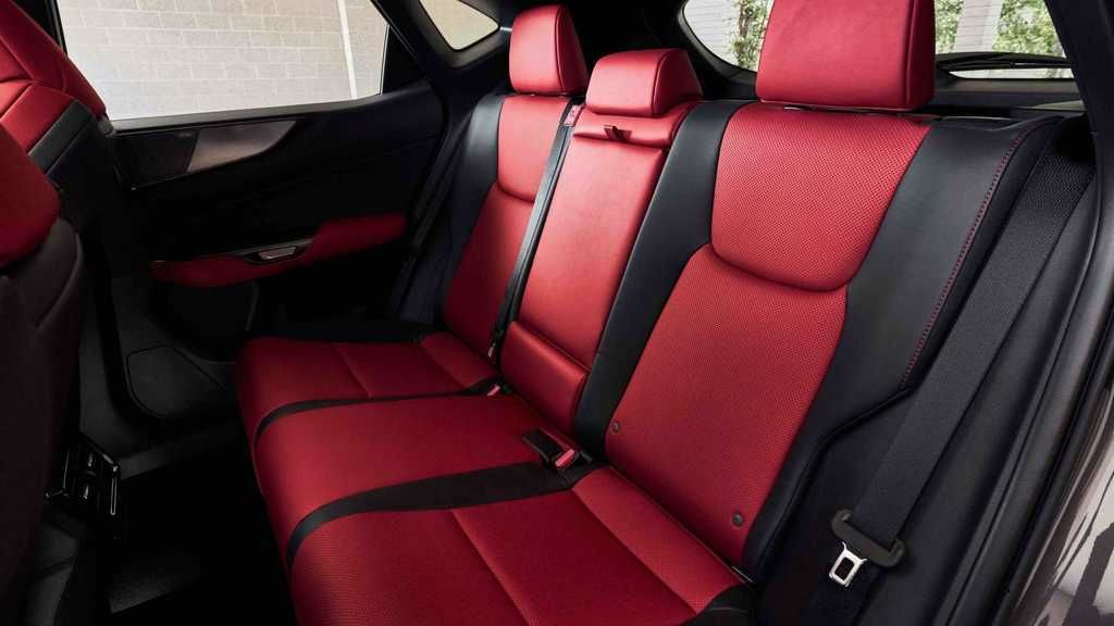Content 2022 lexus nx 350 f sport rear seat