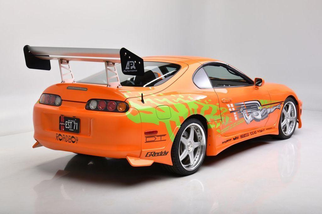Content fot. barrett jackson auctions   1994 toyota supra   fast   furious movie car rear34