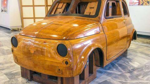 Thumb master fiat 500 in legno