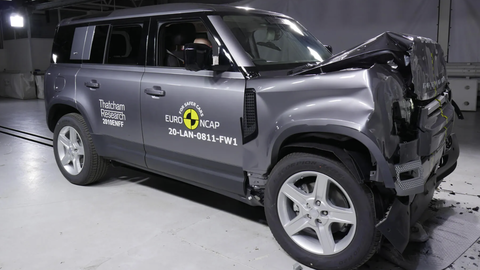 Thumb land rover crash test