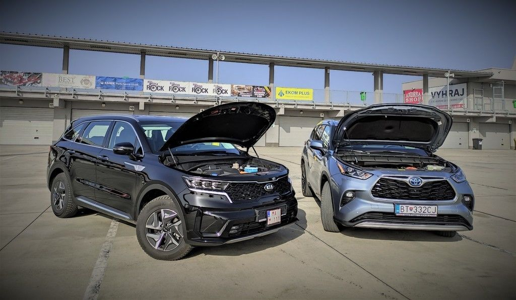 Toyota Highlander vs Kia Sorento porovnavaci test