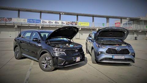 POROVNANIE Toyota Highlander a Kia Sorento: Plne hybridné koráby s odlišným prístupom