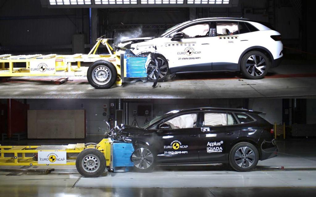 Skoda Enyaq a VW ID.4 crash test euro ncap