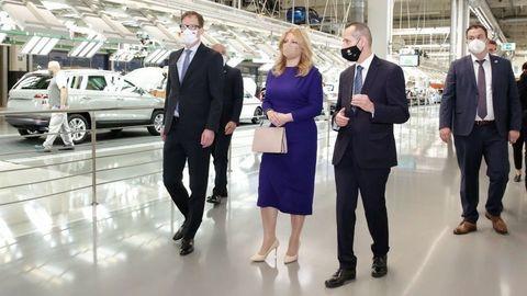 Prezidentka SR navštívila VW Slovakia