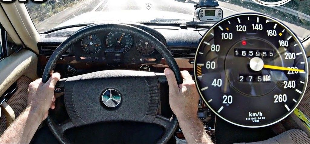 Mercedes 450 SEL 6.9 maximum speed