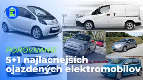 PREHĽAD 5+1 cenovo najdostupnejších ojazdených elektromobilov v roku 2021 (VIDEO)