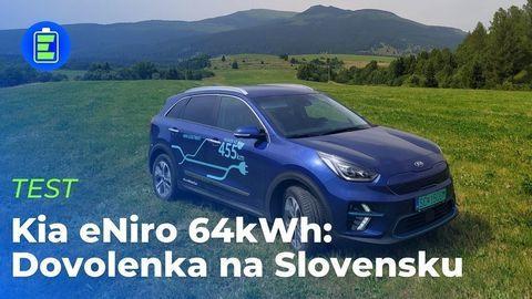 VIDEOTEST Kia eNiro 64 kWh MY2021: Dovolenka na Slovensku v lokalite bez nabíjačiek