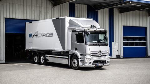 Elektrický Actros má dojazd až 400 km