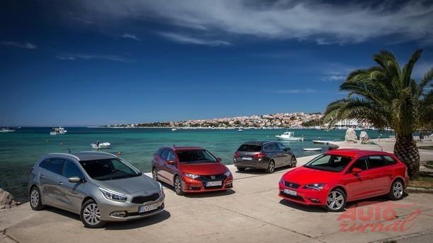 Seat Leon ST 1.4 TSI, Honda Civic Tourer 1.8 i a Kia cee'd_sw 1.6 GDi