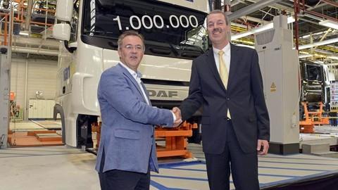 DAF vyrobil v belgickom Westerlo milióntu kabínu