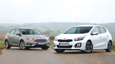 Ford Focus 1,0 EcoBoost vs Kia cee'd 1,0 T- GDi: Porovnanie trojvalcov