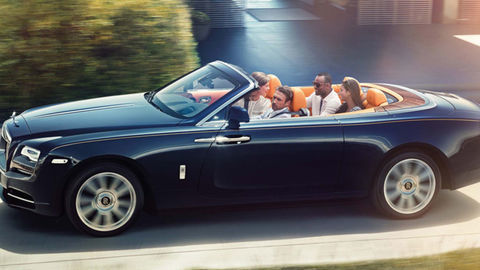 Thumb rolls royce dawn convertible
