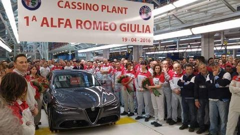 Prvá Alfa Giulia už zbehla z pása