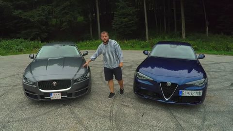 Test: Alfa Romeo Giulia 2.2 Multijet vs Jaguar XE 2.0 D