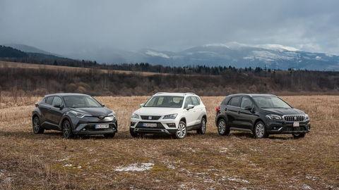 SEAT Ateca a Suzuki S-Cross a Toyota C-HR: Obľúbené SUV so základnými motormi