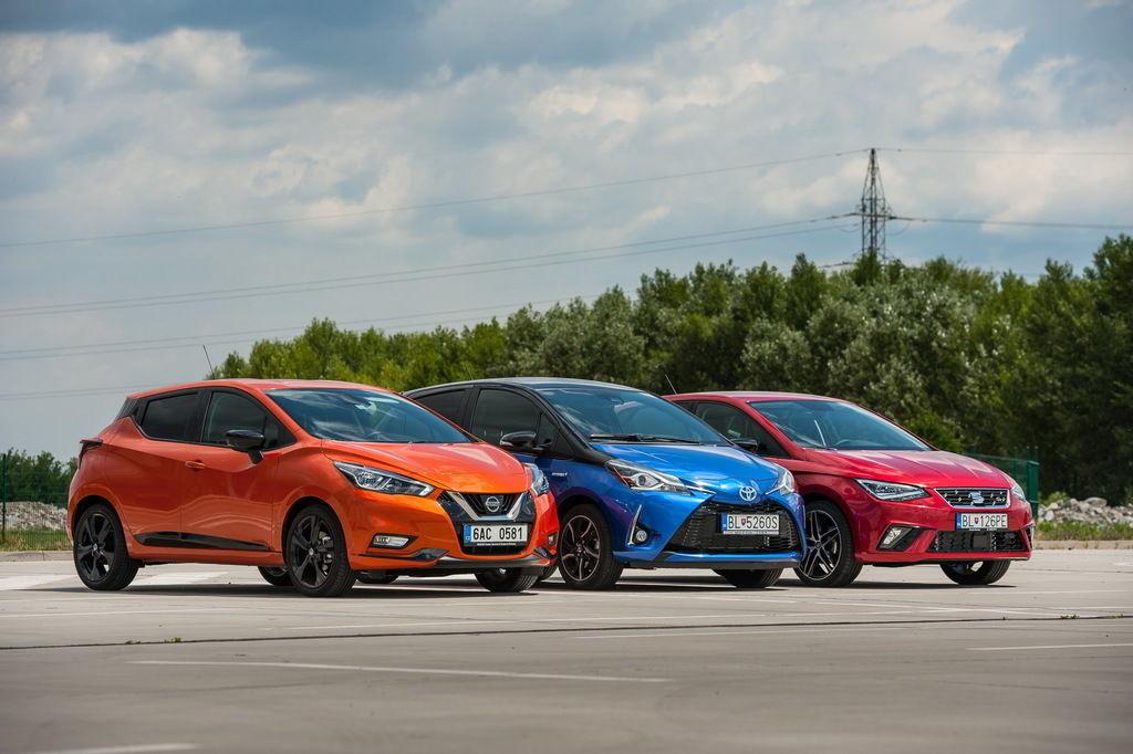 Test SEAT Ibiza a Nissan Micra a Toyota Yaris