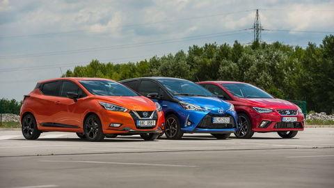SEAT Ibiza a Nissan Micra a Toyota Yaris: Aj mestské autá musia zvládnuť veľa