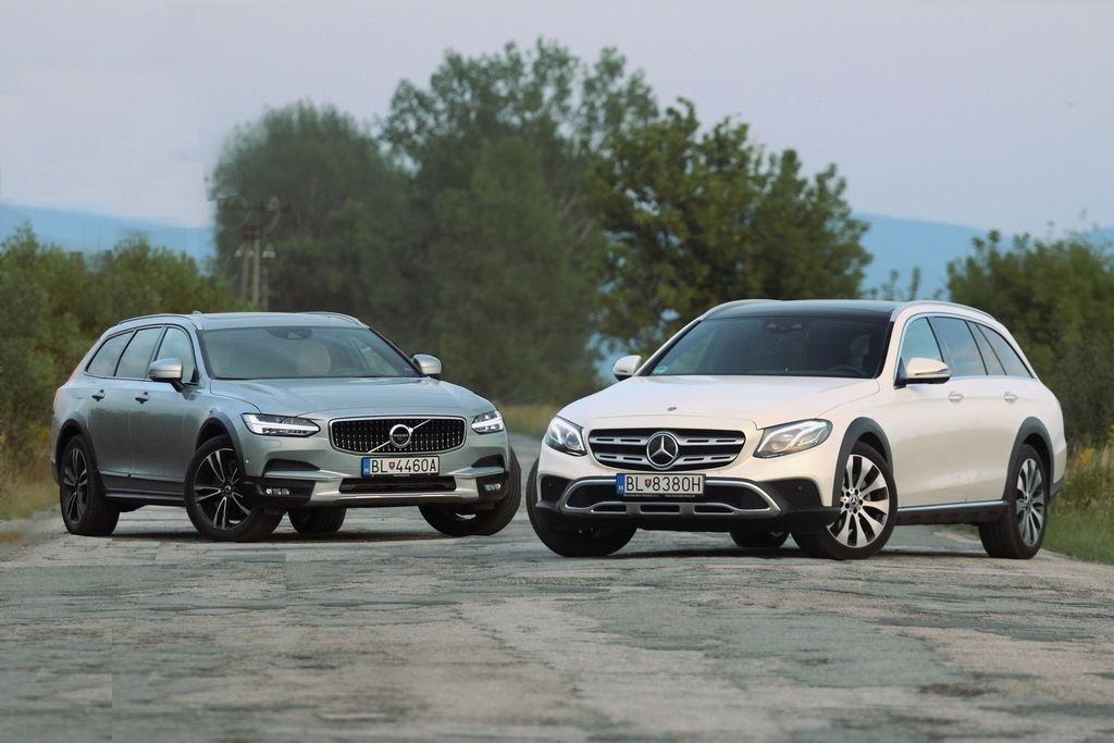 Test Mercedes-Benz E All-Terrain a Volvo V90 Cross Country