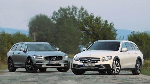 Test Mercedes-Benz E All-Terrain a Volvo V90 Cross Country: Kombi pre cestu tretej triedy