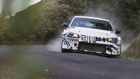 Volkswagen prvýkrát vytiahol nové Polo GTI R5 na cestu
