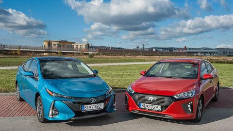 Test Toyota Prius Plug-in a Hyundai Ioniq Plug-in: Skúsený proti nováčikovi