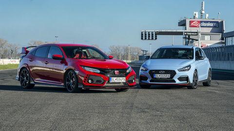 Motoring: Hyundai i30 N vyzval na súboj Hondu Civic Type R