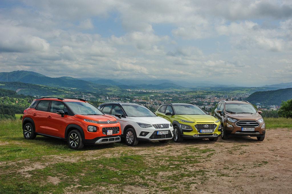 Test mestských crossoverov Citroën C3 Aircross vs Ford EcoSport vs Hyundai Kona vs SEAT Arona
