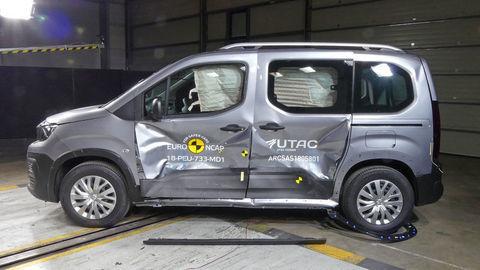 Rifter, Berlingo a Combo prišli v crash-testoch o jednu hviezdičku