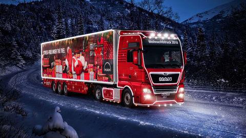 Vianočný kamión MAN