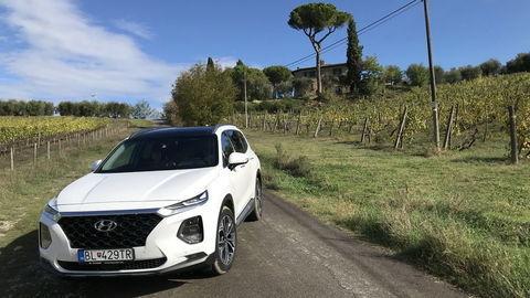 Hyundai Santa Fe 2.2 CRDi: Tritisíc kilometrov za štyri dni v plnom obsadení