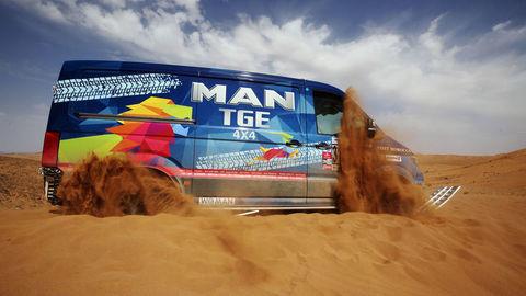 Van TGE 4x4 úspešný na rely vMaroku