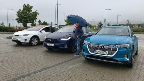 Audi e-tron a Tesla Model X: Koľko spotrebujú na diaľnici?