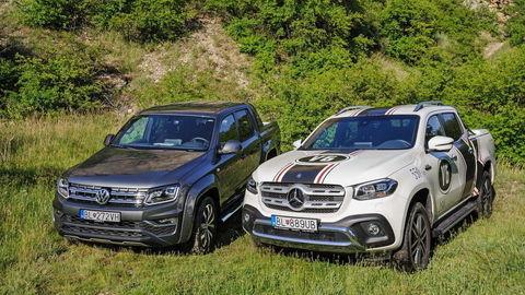 Test VW Amarok 3,0 TDI V6 a Mercedes-Benz X 350d: Súboj titanov