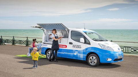 Nissan postavil koncept ekologického zmrzlinárskeho auta