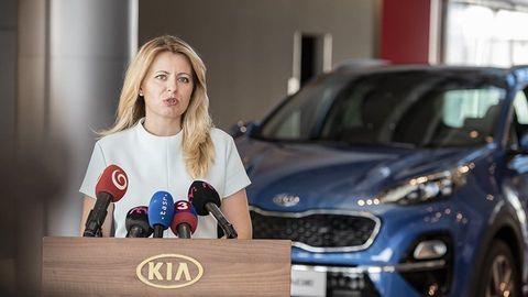 Prezidentka Čaputová navštívila Kia Motors pri Žiline