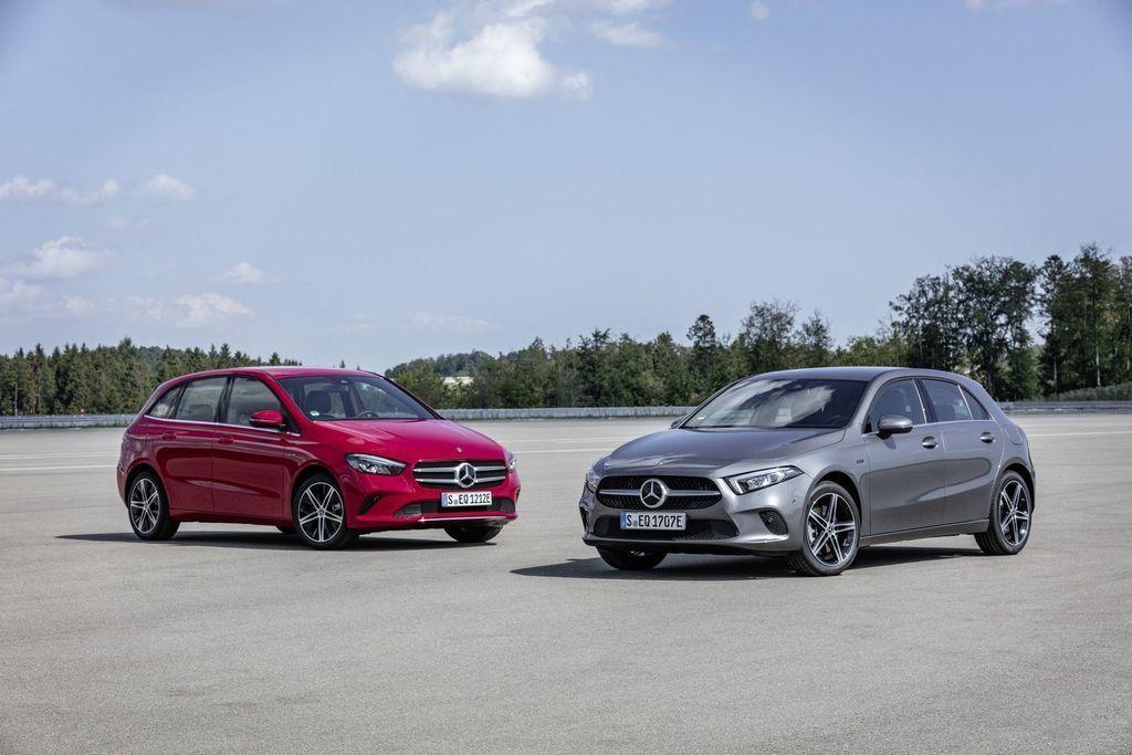 Mercedes-Benz plug-in hybridy A a B